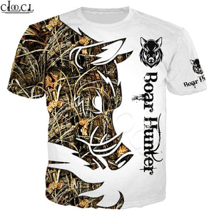 3D Wild Boar Hunter T-shirt