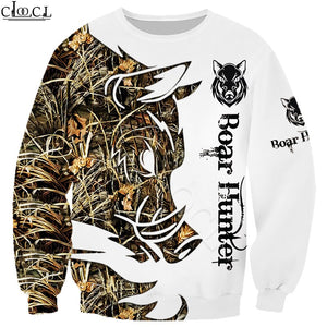 3D Wild Boar Hunter Sweatshirt