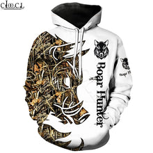 Load image into Gallery viewer, 3D Wild Boar Hunter Hoodie