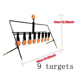 Automatic Reset Rotating 9 Targets
