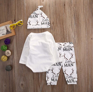 "3pcs Baby Boy Outfit ""Daddy's New Hunting Buddy"""