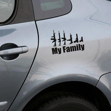 Load image into Gallery viewer, My Family Gun Sticker