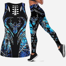 Load image into Gallery viewer, 3D Deer Head Blue/Camo Tank Top & Legging Set