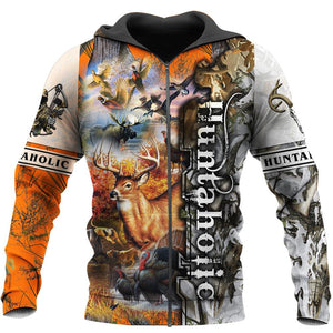 3D Huntaholic Printed Hoodie, Jacket or Sweatshirt