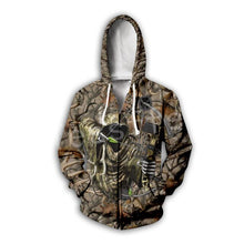 Load image into Gallery viewer, 3D Camo Bow Hunter Hoodie, Jacket or Sweatshirt