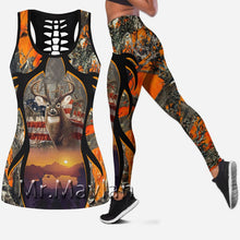 Load image into Gallery viewer, 3D Orange Deer/American flag Tank Top, Leggings or set