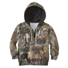 Load image into Gallery viewer, Kids 3D Camo Hunting Hoodie, Jacket, Sweatshirt or T-shirt