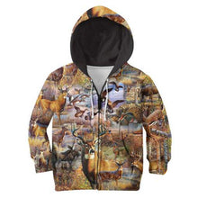 Load image into Gallery viewer, Kids 3D Animal Camo Hoodie, Jacket, Sweatshirt or T-shirt