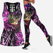 Load image into Gallery viewer, 3D Country Girl Pink Tank Top, Leggings or Set