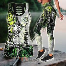 Load image into Gallery viewer, 3D Bass Fishing Women Camo Tank Top & Legging set
