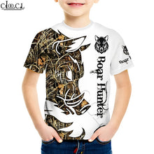 "Load image into Gallery viewer, 3D Kids ""Boar Hunter"" White T-shirt, Hoodie, Sweatshirt or Shorts"
