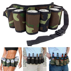 Portable 6 Pack Drink Belt Holster