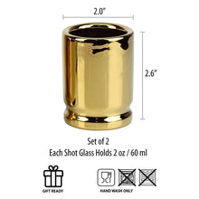 Load image into Gallery viewer, 50 Caliber Shot Glass (Pack of 4)
