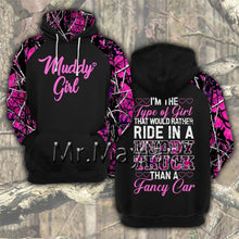 "Load image into Gallery viewer, 3D ""Muddy Girl"" Jacket or Hoodie"