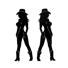 Load image into Gallery viewer, Two Sexy Cowgirl Stickers