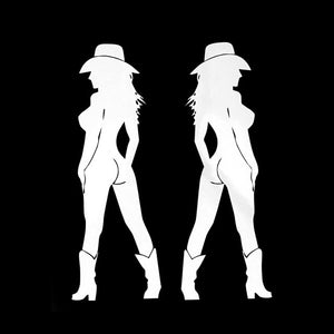 Two Sexy Cowgirl Stickers