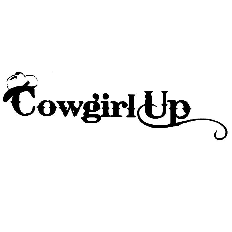 Cowgirl Up Sticker