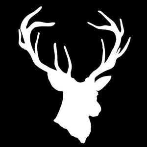 Deer Head Vinyl Sticker