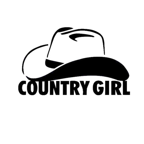 Country Girl Cowgirl Sticker