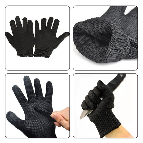 1 Pair Stainless Steel Anti-cut Safety Gloves