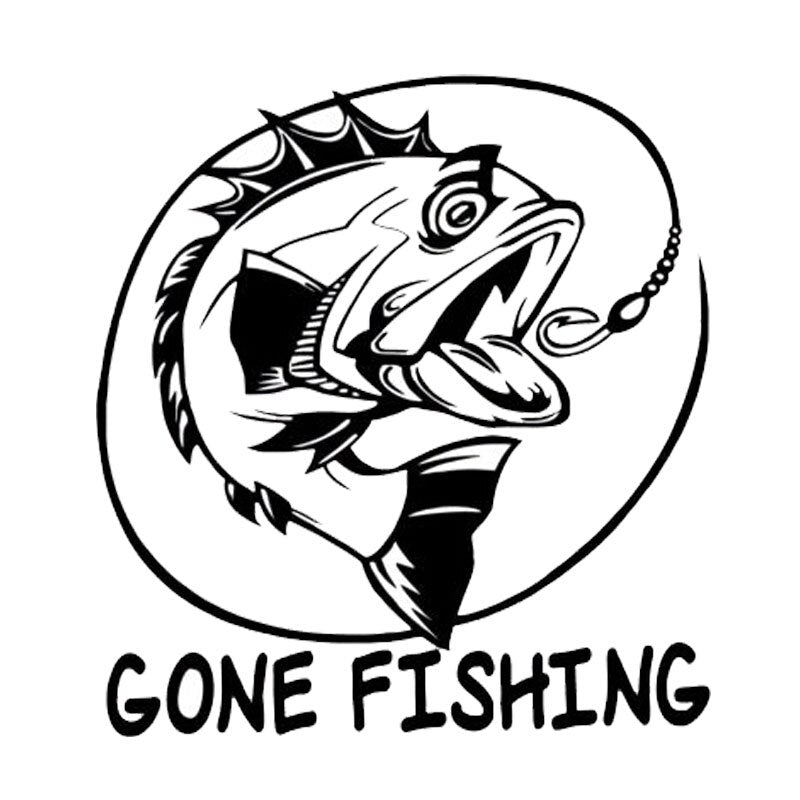 Gone Fishing Stickers