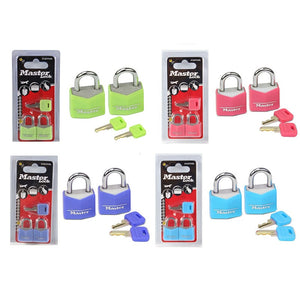 2 Master Lock (4 colours available)
