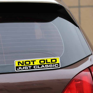 """Not Old, Just Classic"" Decal/Sticker"