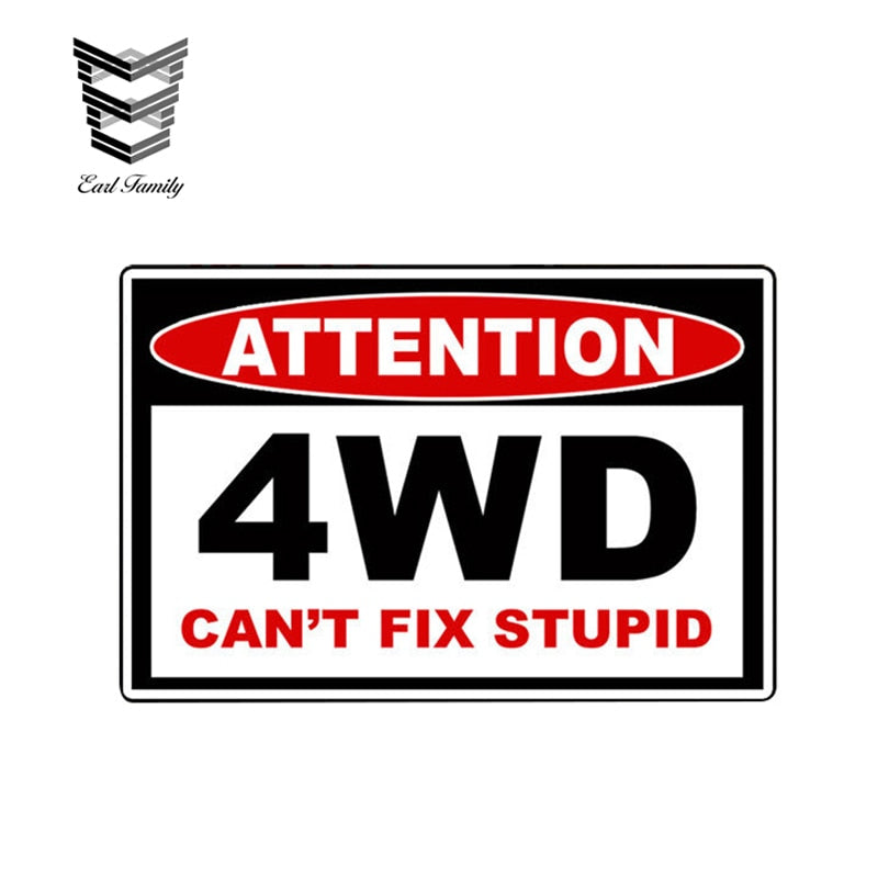 4WD Off Road Warning Sticker