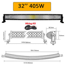 "Load image into Gallery viewer, Auxtings 22"" 32"" 42"" 52""inch Curved Led Light Bars"