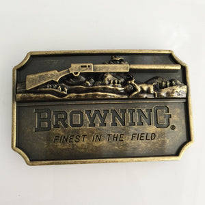 Browning Hunting Belt Buckle Bronze