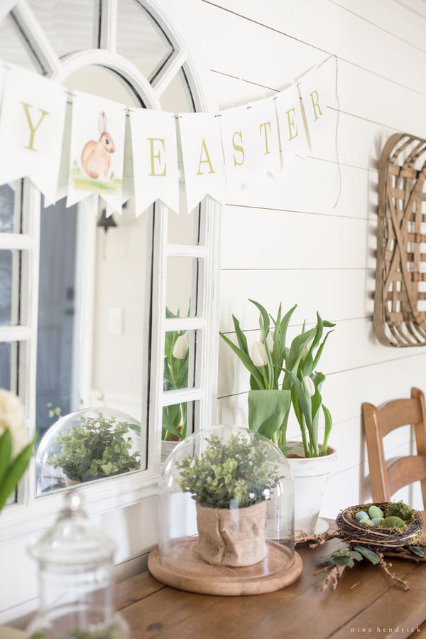 Easter Watercolor Banner Printable