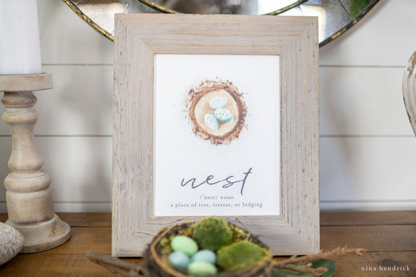 Nest Watercolor Printable