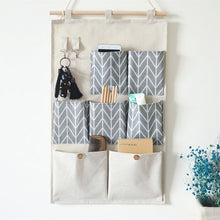Load image into Gallery viewer, Wall Hanging Storage Pockets Cotton Linen Door Organizer