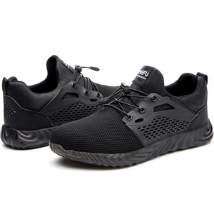 Work Shoes Indestructible Shoes Safety Puncture-Proof Work Sneakers Breathable Shoes