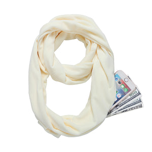 Scarf With Pocket Women Wrap Zipper Pocket Scarves