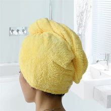 Load image into Gallery viewer, Quick Hair Drying Bath Towel Easy Twist and Button 3-Pack