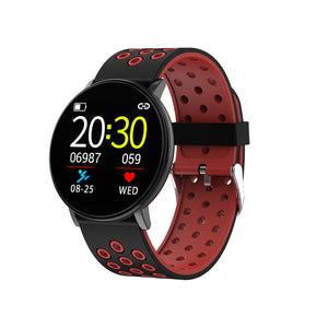 Smart Watch Heart Rate Blood Pressure Monitor Remote Camera Fitness Sports Message Alert Waterproof Smart Watch 1.3'' Full Touch IPS Screen IP67 Bracelet