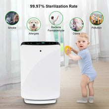 Load image into Gallery viewer, Air Purifier True HEPA Filter PM2.5 99.97% Sterilization Anti Bacteria, Odor, Allergies, Remover, Dust, VOCs, Pollen, Pet Dander