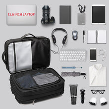Load image into Gallery viewer, Smart Backpack Expandable USB Charging Travel Backpack Multi-layer High Capacity