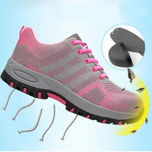 Load image into Gallery viewer, Steel Toe Work Shoes for Women Safety Work Shoes Indestructible Safety Shoes Non-slip Lightweight Anti Crush