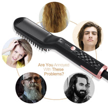 Load image into Gallery viewer, Ceramic Thermal Ion Styling Hair Straightening Brush Hair Straightener Comb