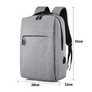 Smart Backpack USB Book Bag Everyday Simple Design 15.6 Laptop Carry