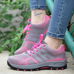 Steel Toe Work Shoes for Women Safety Work Shoes Indestructible Safety Shoes Non-slip Lightweight Anti Crush