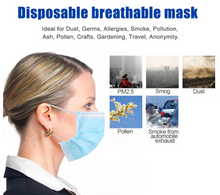 Load image into Gallery viewer, Disposable 3-layer Protection Face Mask 50 count