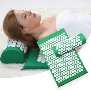 Acupressure Yoga Mat Relieve, Stress Back Body Neck Pain Acupuncture Mat with Pillow Set