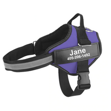 Load image into Gallery viewer, Custom Dog Harness with Personalize Name Tag Harness Reflective No Pull