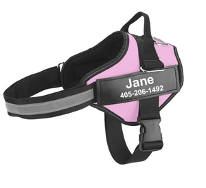 Custom Dog Harness with Personalize Name Tag Harness Reflective No Pull