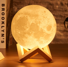 Load image into Gallery viewer, Moon Lamp 3D Print USB LED Night Light Touch Control