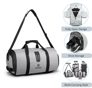 Luggage Bag, Duffle Bag Handheld Travel Bag Multifunction Large Capacity Waterproof with Shoe Pouch Ozuko