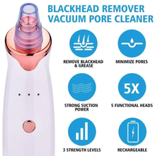 Load image into Gallery viewer, Blackhead Removal Pore and Blackhead Vacuum Dermasuction Pore Cleanser Device